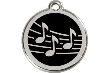 Red Dingo Médaillon en émail Music Noire 01-MU-BB (1MUBS / 1MUBM / 1MUBL)