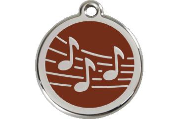 Red Dingo Médaillon en émail Music Marron 01-MU-BR (1MUBRS / 1MUBRM / 1MUBRL)