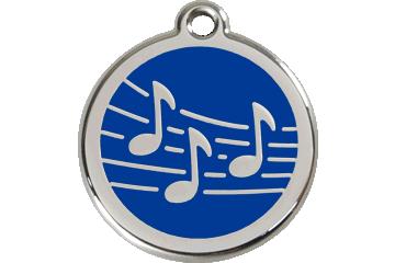 Red Dingo Médaillon en émail Music Bleu Foncé 01-MU-DB (1MUNS / 1MUNM / 1MUNL)