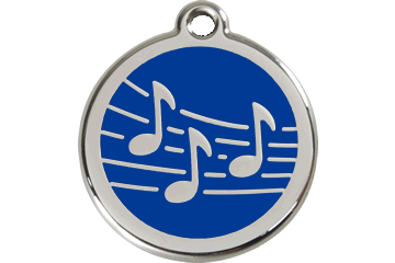 Red Dingo Enamel Tag Music Dark Blue 01-MU-DB (1MUNS / 1MUNM / 1MUNL)