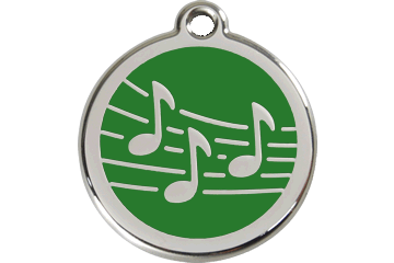 Red Dingo Medaglia con Smalto Music Verde 01-MU-GR (1MUGS / 1MUGM / 1MUGL)