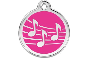 Red Dingo Médaillon en émail Music Rose Bonbon 01-MU-HP (1MUHPS / 1MUHPM / 1MUHPL)