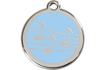 Red Dingo Enamel Tag Music Light Blue 01-MU-LB (1MULBS / 1MULBM / 1MULBL)