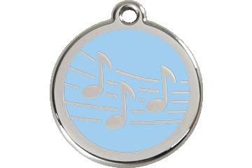 Red Dingo Médaillon en émail Music Bleu Clair 01-MU-LB (1MULBS / 1MULBM / 1MULBL)