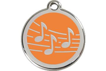 Red Dingo Médaillon en émail Music Orange 01-MU-OR (1MUOS / 1MUOM / 1MUOL)
