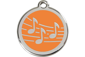 Red Dingo Enamel Tag Music Orange 01-MU-OR (1MUOS / 1MUOM / 1MUOL)