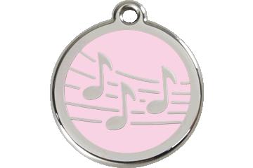 Red Dingo Tiermarke mit Emaille Music Pink 01-MU-PK (1MUPKS / 1MUPKM / 1MUPKL)