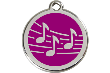 Red Dingo Enamel Tag Music Purple 01-MU-PU (1MUPS / 1MUPM / 1MUPL)