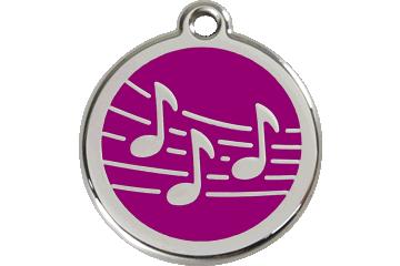 Red Dingo エナメル装飾タグ 音楽 紫色 01-MU-PU (1MUPS / 1MUPM / 1MUPL)