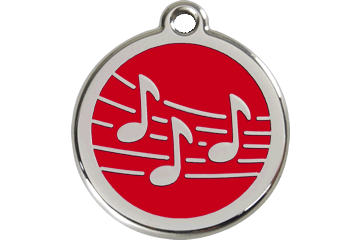 Red Dingo Enamel Tag Music Red 01-MU-RE (1MURS / 1MURM / 1MURL)