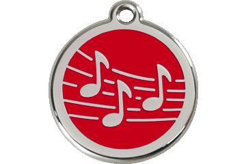Red Dingo Médaillon en émail Music Rouge 01-MU-RE (1MURS / 1MURM / 1MURL)