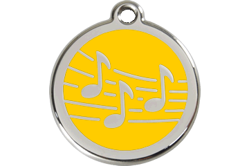 Red Dingo Enamel Tag Music Yellow 01-MU-YE (1MUYS / 1MUYM / 1MUYL)