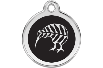 Red Dingo Enamel Tag Kiwi Black 01-NZ-BB (1NZBS / 1NZBM / 1NZBL)