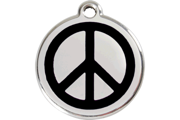 Red Dingo Enamel Tag Peace Black 01-PC-BB (1PCBS / 1PCBM / 1PCBL)