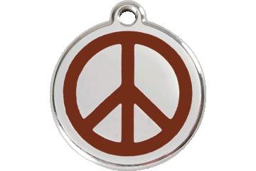 Red Dingo Médaillon en émail Peace Marron 01-PC-BR (1PCBRS / 1PCBRM / 1PCBRL)