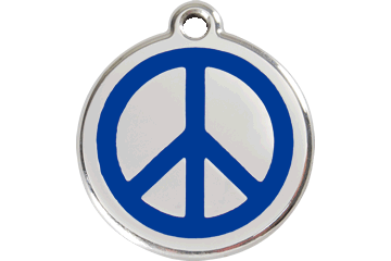 Red Dingo Tiermarke mit Emaille Peace Dunkelblau 01-PC-DB (1PCNS / 1PCNM / 1PCNL)