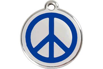 Red Dingo Enamel Tag Peace Dark Blue 01-PC-DB (1PCNS / 1PCNM / 1PCNL)