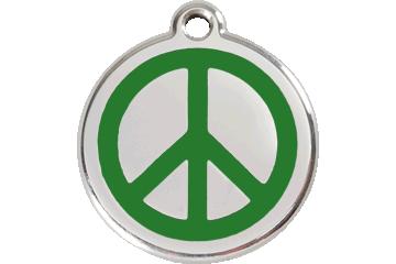 Red Dingo Médaillon en émail Peace Vert 01-PC-GR (1PCGS / 1PCGM / 1PCGL)