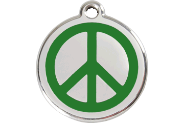 Red Dingo Enamel Tag Peace Green 01-PC-GR (1PCGS / 1PCGM / 1PCGL)
