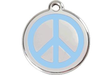 Red Dingo Enamel Tag Peace Light Blue 01-PC-LB (1PCLBS / 1PCLBM / 1PCLBL)