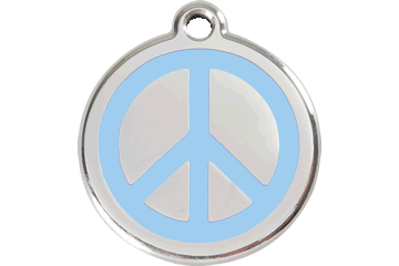 Red Dingo Tiermarke mit Emaille Peace Hellblau 01-PC-LB (1PCLBS / 1PCLBM / 1PCLBL)