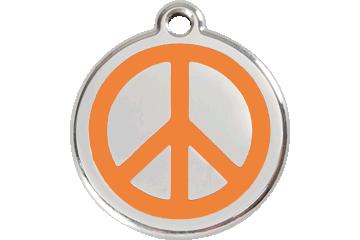 Red Dingo Médaillon en émail Peace Orange 01-PC-OR (1PCOS / 1PCOM / 1PCOL)