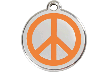Red Dingo Tiermarke mit Emaille Peace Orange 01-PC-OR (1PCOS / 1PCOM / 1PCOL)