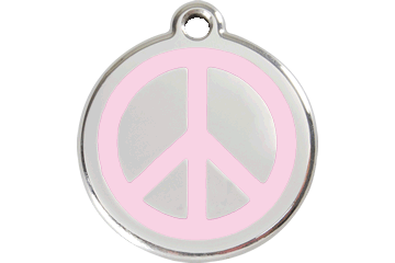 Red Dingo Enamel Tag Peace Pink 01-PC-PK (1PCPKS / 1PCPKM / 1PCPKL)
