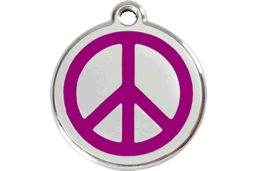 Red Dingo Enamel Tag Peace Purple 01-PC-PU (1PCPS / 1PCPM / 1PCPL)