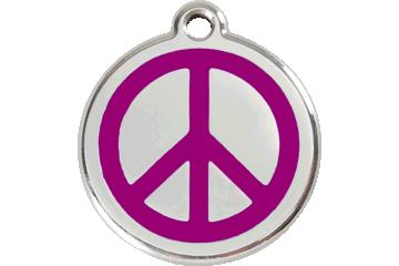 Red Dingo Médaillon en émail Peace Violet 01-PC-PU (1PCPS / 1PCPM / 1PCPL)