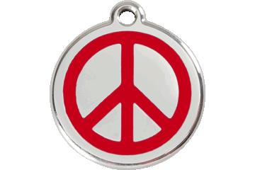 Red Dingo Médaillon en émail Peace Rouge 01-PC-RE (1PCRS / 1PCRM / 1PCRL)