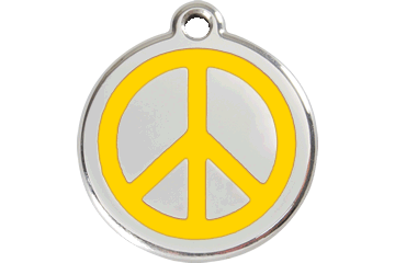 Red Dingo Enamel Tag Peace Yellow 01-PC-YE (1PCYS / 1PCYM / 1PCYL)