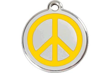 Red Dingo Tiermarke mit Emaille Peace Gelb 01-PC-YE (1PCYS / 1PCYM / 1PCYL)