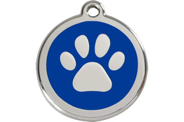 Red Dingo Tiermarke mit Emaille Paw Print Dunkelblau 01-PP-DB (1PPNS / 1PPNM / 1PPNL)