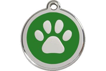 Red Dingo Médaillon en émail Paw Print Vert 01-PP-GR (1PPGS / 1PPGM / 1PPGL)