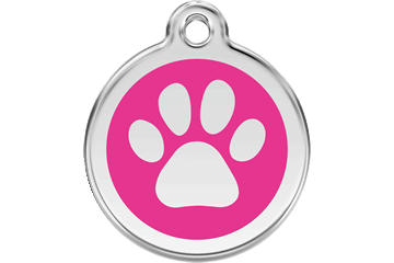 Red Dingo Tiermarke mit Emaille Paw Print Hot Pink 01-PP-HP (1PPHPS / 1PPHPM / 1PPHPL)