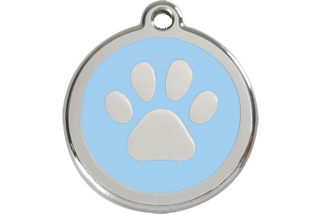 Red Dingo Enamel Tag Paw Print Light Blue 01-PP-LB (1PPLBS / 1PPLBM / 1PPLBL)