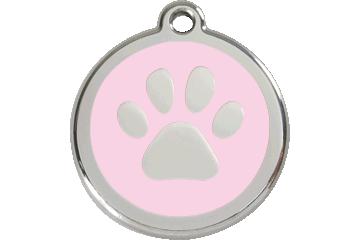Red Dingo Enamel Tag Paw Print Pink 01-PP-PK (1PPPKS / 1PPPKM / 1PPPKL)