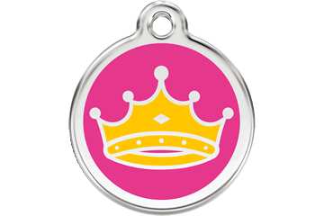 Red Dingo Enamel Tag Queen Hot Pink 01-QC-HP (1QCHPS / 1QCHPM / 1QCHPL)