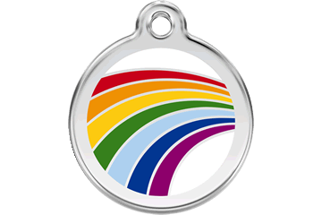 Red Dingo Enamel Tag Rainbow White 01-RA-WT (1RAWS / 1RAWM / 1RAWL)
