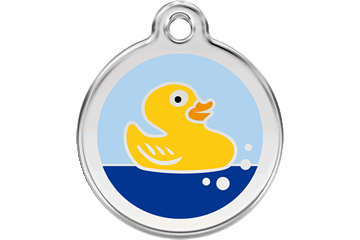 Red Dingo Enamel Tag Rubber Duck Light Blue 01-RU-LB (1RULBS / 1RULBM / 1RULBL)