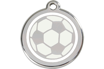 Red Dingo Medaglia con Smalto Soccer Ball White 01-SB-WT (1SBWS / 1SBWM / 1SBWL)