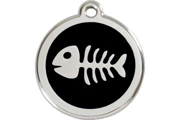 Red Dingo Médaillon en émail Fish Bone Noire 01-SK-BB (1SKBS / 1SKBM / 1SKBL)