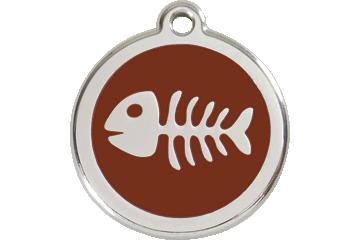 Red Dingo Médaillon en émail Fish Bone Marron 01-SK-BR (1SKBRS / 1SKBRM / 1SKBRL)