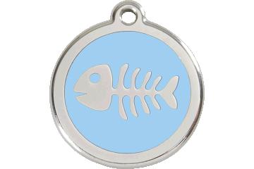 Red Dingo Enamel Tag Fish Bone Light Blue 01-SK-LB (1SKLBS / 1SKLBM / 1SKLBL)