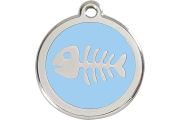 Red Dingo Enamel Tag Fish Bone Light Blue 01-SK-LB (1SKLBS / 1SKLBM / 1SKLBL)