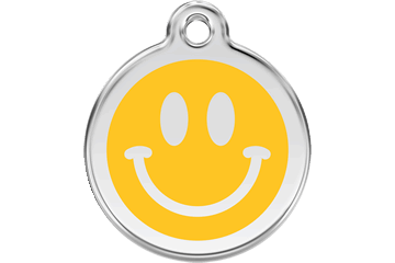 Red Dingo Enamel Tag Smiley Face Yellow 01-SM-YE (1SMYS / 1SMYM / 1SMYL)