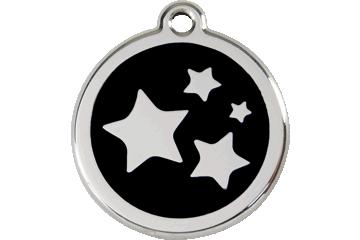 Red Dingo Médaillon en émail Stars Noire 01-ST-BB (1STBS / 1STBM / 1STBL)