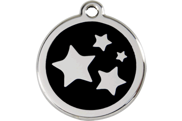 Red Dingo Enamel Tag Stars Black 01-ST-BB (1STBS / 1STBM / 1STBL)
