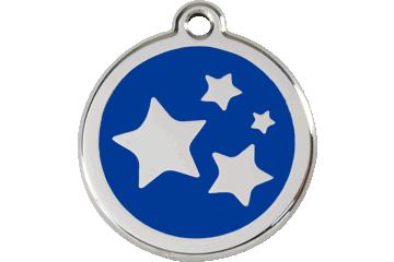 Red Dingo Tiermarke mit Emaille Stars Dunkelblau 01-ST-DB (1STNS / 1STNM / 1STNL)